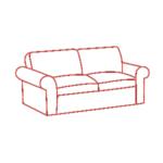 Химчистка двухместного дивана